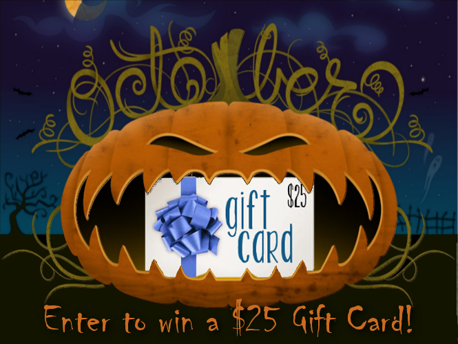 Giveaway Graphic, $25, October 2014, Halloween