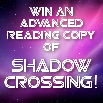 Shadow Crossing ARC giveaway graphic